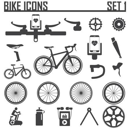bicicleta vector: moto icono de ilustración vectorial.