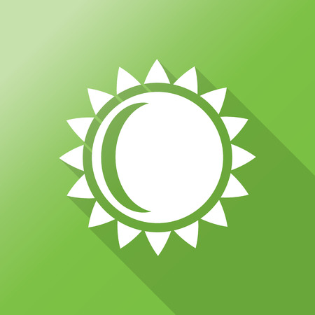 ligh: sun flat icon with long shadow. Illustration