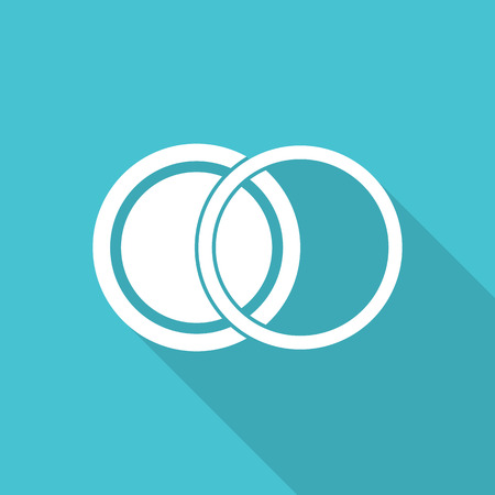neutral density filter: filter len icon with long shadow. Illustration