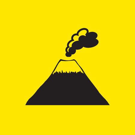 smoky mountains: volcano mountain top exploding icon