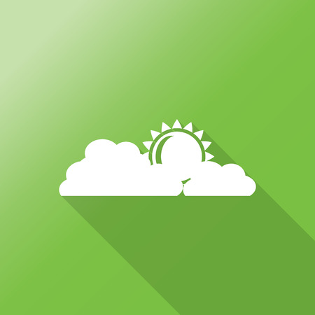 overcast: Cloud icon. Overcast weather sign flat icon with long shadow.
