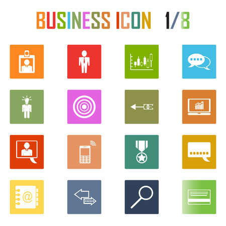 business diagram: Vector 16  bussiness icon set .
