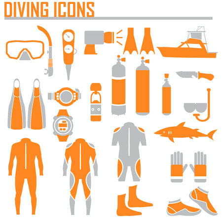 harpoon: diving icon vector illustration.