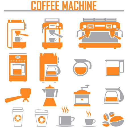 commercial kitchen: coffee machine icons