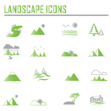 country road: landscape icons