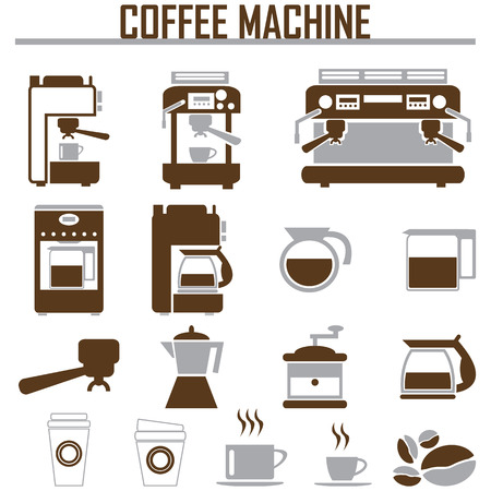 coffee beans: coffee machine icons