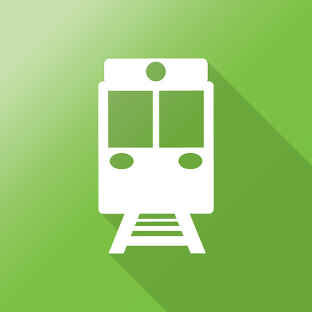 locomotion: train icon with long shadow.