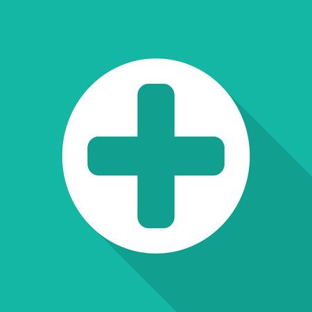 eye bandage: Medical Icons with long shadow.