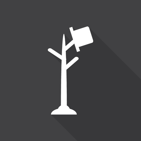 cartoon hat: Hat Stand icon with long shadow. Illustration