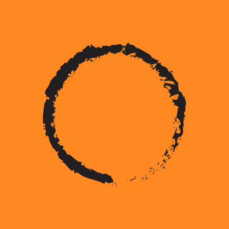 spiritual growth: zen icon with long shadow.