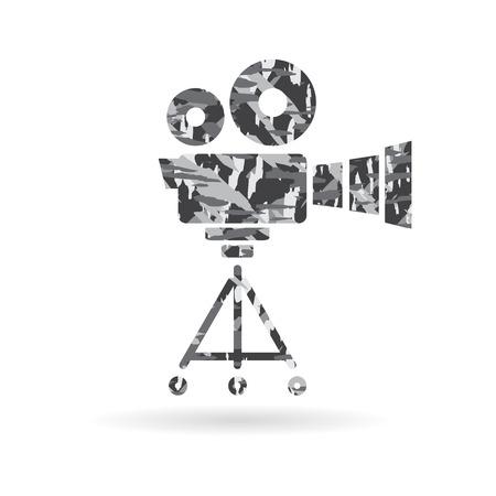 vdo: VDO film camera icon, cinema