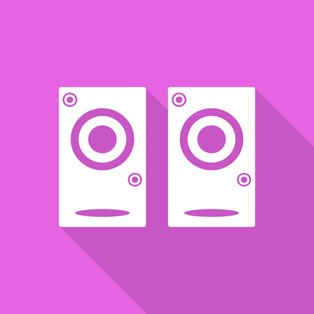 party system: sound speaker  icon with long shadow.