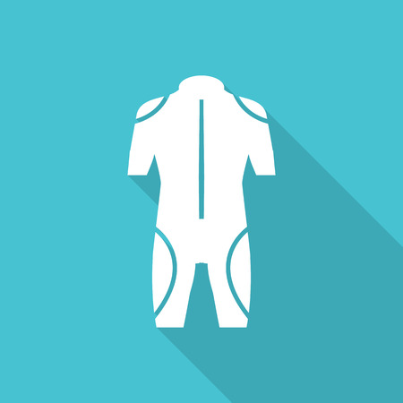 oxygen mask: diving icon vector with long shadow.