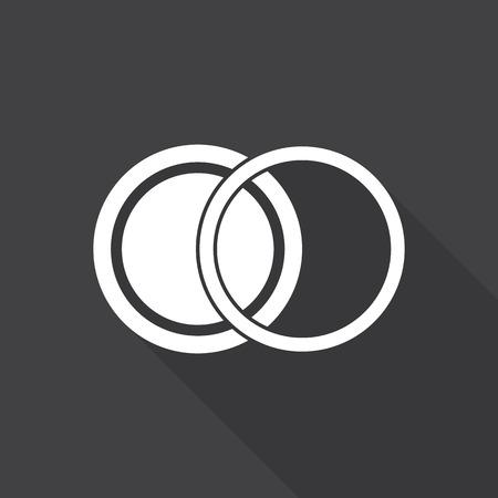 rayos uv: filter camera icon. with long shadow.
