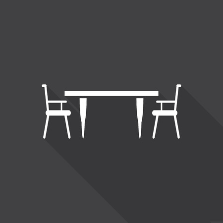 patio chair: Table with chairs icon