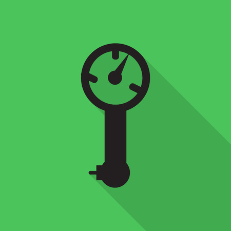 air pressure: tire air pressure icon with long shadow. Illustration