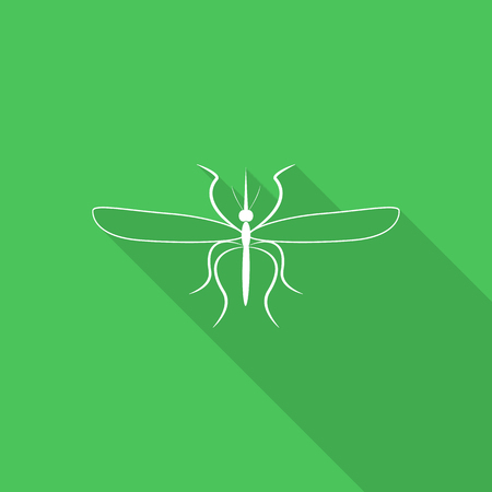 gnat: mosquito icon with long shadow.