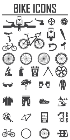 exercise bike: bike icon vector illustration. Illustration