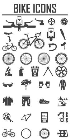 fiets pictogram vector illustratie. Stock Illustratie