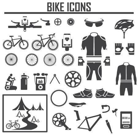 自転車アイコンのベクター イラストです。  イラスト・ベクター素材