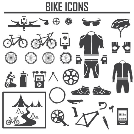 bike icon vector illustration. Illustration
