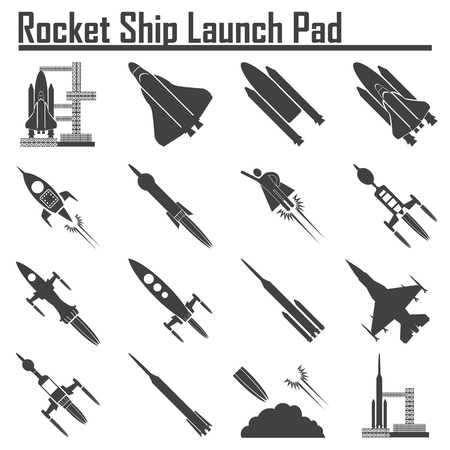 shuttle: Space Shuttle Launch icon. Illustration