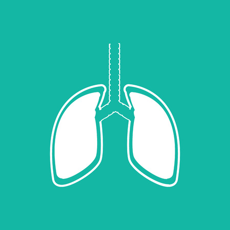 silhouette sign: Human Lung Icons .vector illustration EPS10. Illustration