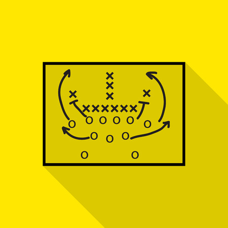 tactic: American football vector icons set Illustration