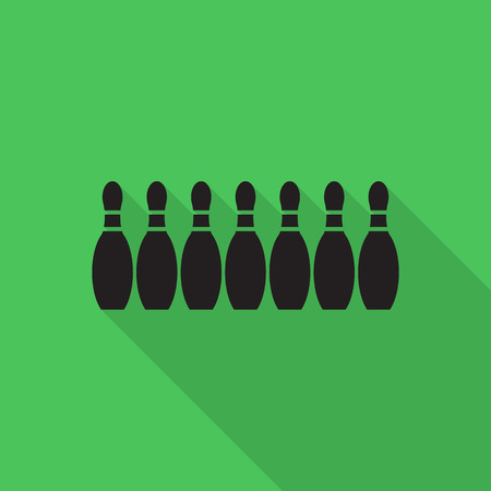 bowling alley: bowling icon vector. Illustration