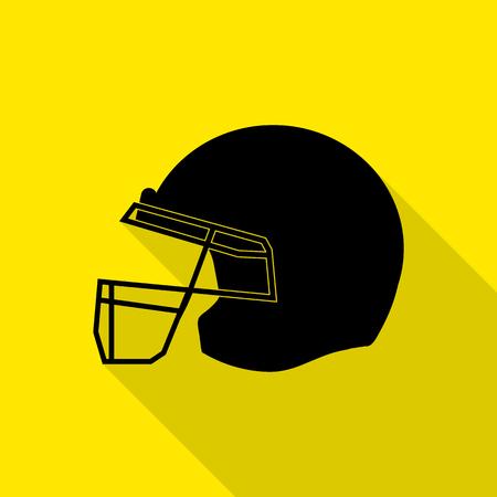 quarterback: American football vector icons set Illustration