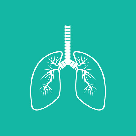 clean lungs: Human Lung Icons .vector illustration EPS10. Illustration
