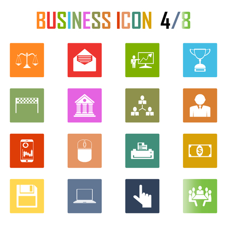 stat: Business icons set Illustration