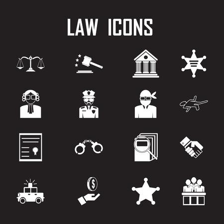 pledge: law icons set.