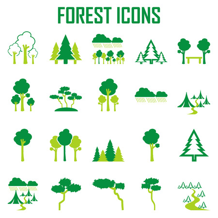 tree, forest icon vector set.