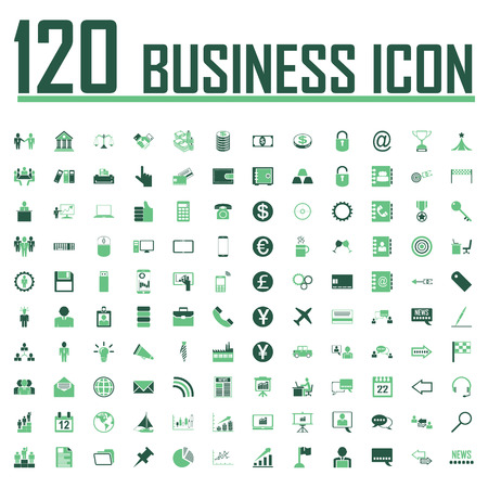 business icons set vector.