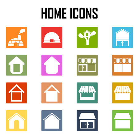 abode: Vector home icons Illustration