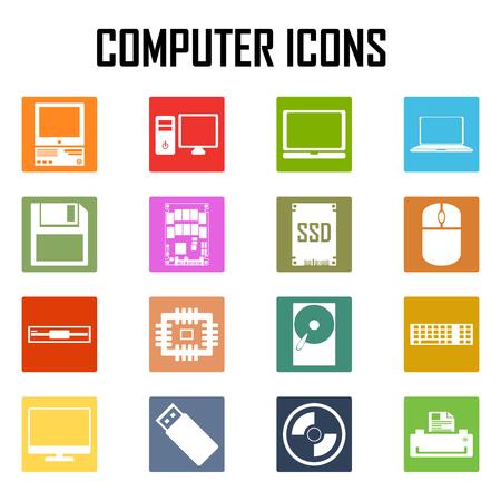 dvd rom: computer icons set.