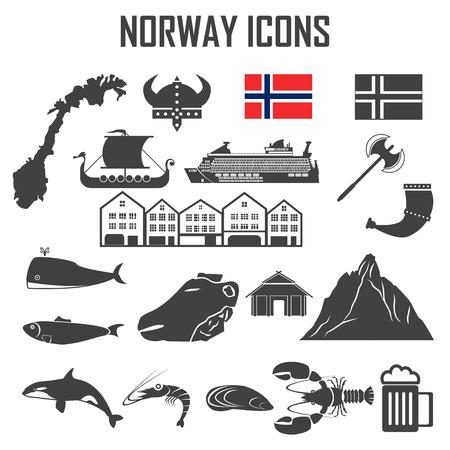 norway flag: norway icon set. Illustration
