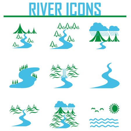 Rivier en Landschap pictogrammen