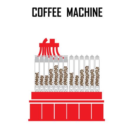 roaster: coffee roaster machine vector illustration. Illustration