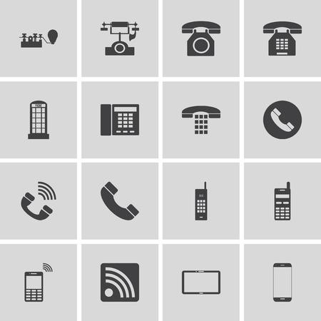 communication icons: phone and communication icons