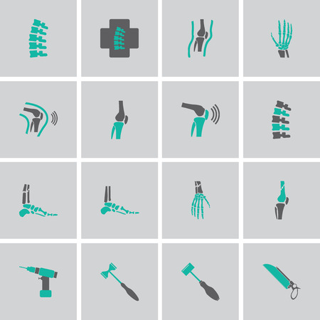 orthopedic: Orthopedic and spine symbol Set Illustration