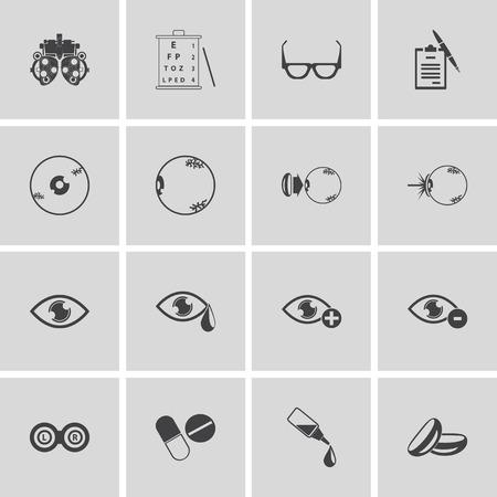 eye icon: optical icons, vector symbols