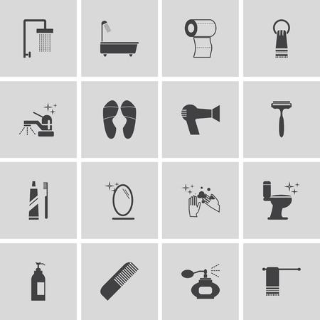 personal hygiene: personal hygiene icon set Illustration
