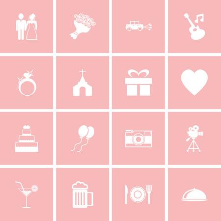 s video: Wedding icon set