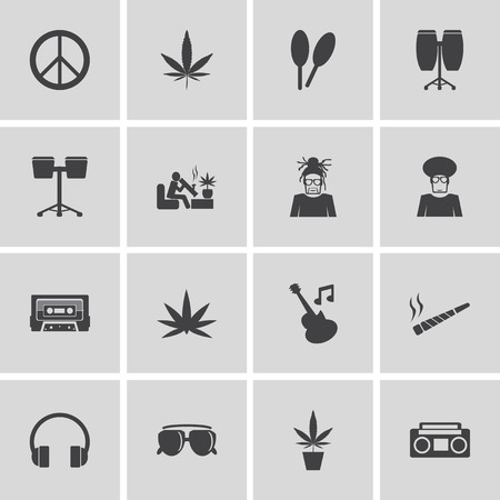bob: Festival Silhouette icons Illustration