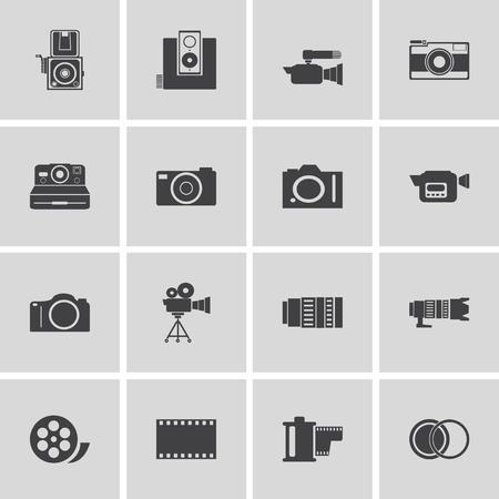 vdo: camera and Video icons set ,Illustration eps 10