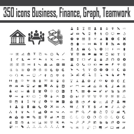effective: business, team, teamwork, management, effective, success, company, group, icons set vector  sign and symbol. Illustration