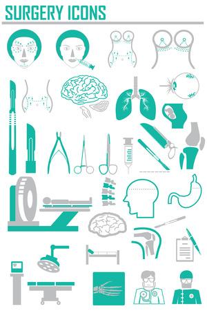 simbolo medicina: Iconos del vector de la cirugía.
