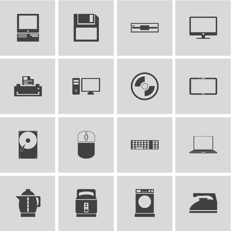 appliances icons: Electronic Devices and Home Appliances Icons Illustration